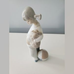 LLadro Little Girl With Pigtails in PJ's Puppy Dog